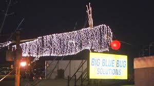 Big Blue Bug Solutions Big Blue Bug In Providence To Switch On Christmas Lights Wjar