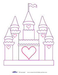 castle coloring pages disney world page google search princess party