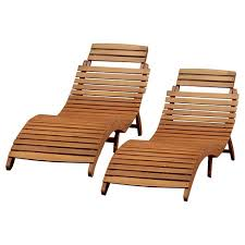 wood chaise lounge. Lahaina Set Of 2 Acacia Wood Patio Chaise Lounge - Natural Yellow Christopher Knight Home Target
