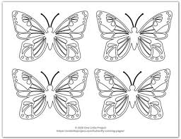 Cut the larger picture into smaller pieces then. Butterfly Coloring Pages Free Printable Butterflies One Little Project