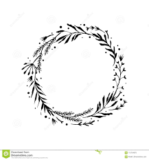 Branch Template Floral Rustic Branch Wreath For Wedding Invitation Template