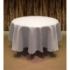 natural burlap table cover 126 round white