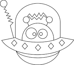 Alien Hide In Spaceship Coloring Page Aliens And Monsters Pinte