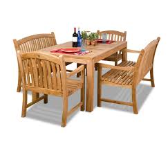 outdoor rectangular dining table. Amazonia Teak 5-Piece Rectangular Dining Set With Bench Seats Review Outdoor Table