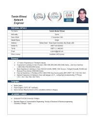 Cisco Certified Network Engineer Sample Resume 13 15 Format For
