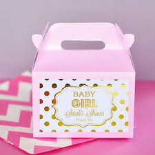 Pink And Gold Baby Shower Favor Boxes Girl Baby Shower PartyBoxes For Baby Shower Favors