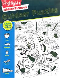 All the puzzles are interactive; Hidden Pictures Outdoor Puzzles Highlights For Children 9781620917886