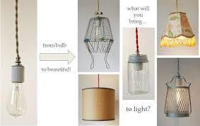 diy lighting kits. DIY Cloth Cord Swag \u0026 Pendant Light Kits - Make Anything Into A Diy Lighting G