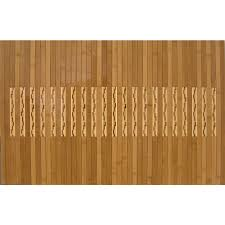 anji mountain light brown 20 in x 48 in bamboo kitchen and bath mat