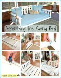 assembly of a swing bed from the porch diy daybed plans