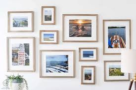 the frames come with a white mat in them and so we printed photos that my husband took on our various trips put them into the frames and hung them up