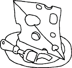 Cheese Coloring Pages Christianvisionpnginfo