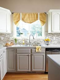 Two tone cabinets Painted Dusty Gray And White Kitchen Cabinets Ideastand Stylish Two Tone Kitchen Cabinets For Your Inspiration 2017