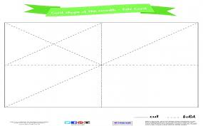 Free Printable Kite Template New Card Shape Of The Month 3D Kite ...