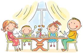 Resultado de imagen de dibujos niños comiendo