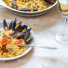 Italian Healthy Food With Seafood Pasta ...