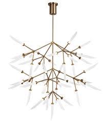 tech lighting 700sprgfr led927 spur led 41 inch aged brass chandelier ceiling light grande