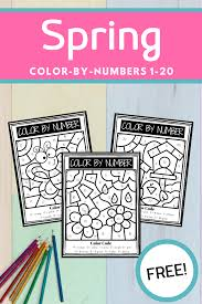 A board game to use for revision of the first lessons' learning. Free Spring Color By Number Printables For Preschoolers