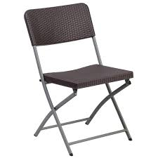 folding chairs plastic. Flash Furniture Plastic Rattan Folding Chair In Brown Chairs