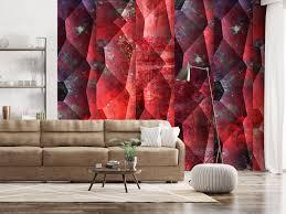 Behang Purple Relief Magma Behang Behang