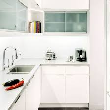 small white kitchens with white appliances. Small Kitchens With White Cabinetry And Frosted Glass Cupboards Appliances