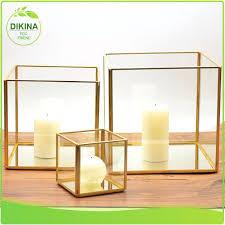 square candle holders real crystal holder med votive