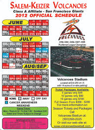 Volcanoes Stadium Seating Chart 2012 Schedule Salem Keizer Volcanoes Volcanoes Stadium
