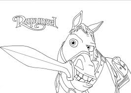 Small Picture Tangled Maximus Coloring Pages GetColoringPagescom