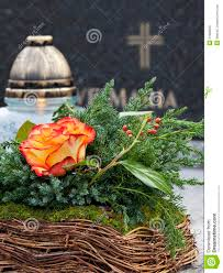 Grave Decoration Floral Grave Decoration Royalty Free Stock Photo Image 21868505