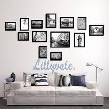 breathtaking wall photo frames interior decor home large multi picture frame set 13 pieces black co uk kitchen ideas