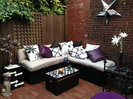 Seating Wall Blocks Diy Lounge Seating Cinder Block And Black Spray Paint As The