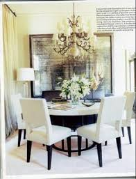 dining room love the round table chairs