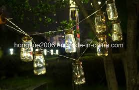 20 led mini glass jar led string lights battery operated for wedding party fairy lights decoration