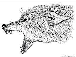 Adult Coloring Pages Wolf Free Wolves Of A Realistic Ryanbreauxco