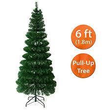 Ansio Pull Up Pop Up Christmas Tree Artificial 6 Ft Space Saving