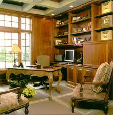 ceiling lights for home office. Coffered Ceiling With Lighting And Desk Accessories Also Office Chairs Plus Wood Cabinets Wall Writing Table Floor Design For Lights Home I