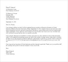 11 Notice Of Resignation Letter Templates Free Sample Example Inside ...