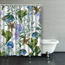 Coral Design Shower Curtain Buy Shower Curtains Design Summer Vintage Watercolor Sea