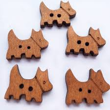 <b>50Pcs</b>/<b>lot Cute Dog</b> Style Wooden Buttons Girls' Toy Exquisite Wood ...