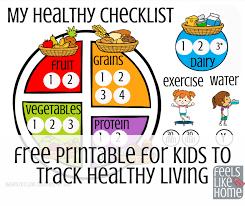 Printable Kids Free Printable For Kids To Track Healthy Eating Feels Like Home