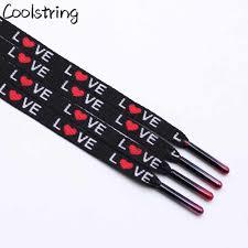 <b>Coolstring</b> Digital <b>Print</b> Sublimated Shoelaces Flat <b>Printed</b> Red ...
