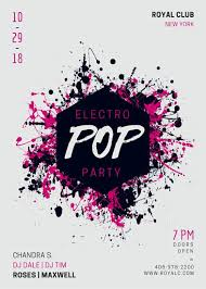Part Flyer Electro Pop Music Party Flyer Templates By Canva
