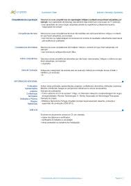 formato curriculo word modelo de curriculum vitae europeu word
