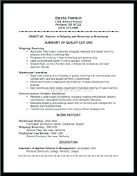 Shipping And Receiving Resume Examples resume Warehouse Shipping And Receiving Resume Examples Co Clerk 27
