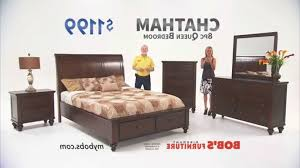Queen Bedroom Set Bob s Discount Furniture Youtube for Best