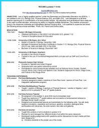 Resume Worksheet Health Science Teacher Resume Example Template 62