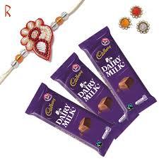 rakhi with 3 chocolate love