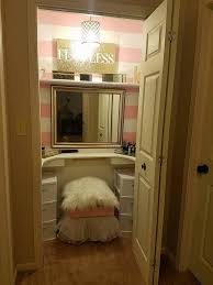 Husband Turns Spare Closet Into A Beautiful Vanity For His Nurse Wife |  HuffPost