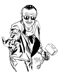 900x1105 drawn spiderman stan lee