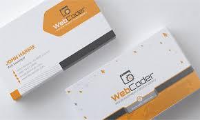 Furniture Visiting Card Design Psd Business Card Design For Web Design And Developer Psd